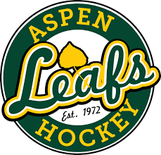 Image showing the logo for the Aspen leafs, a local hockey organization in Aspen, Colorado that Feldman & Wertz, LLP financially supports